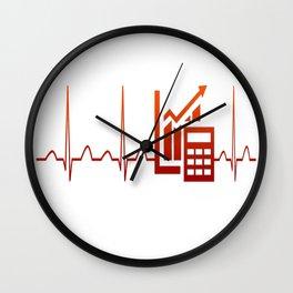 ACCOUNTANT HEARTBEAT Wall Clock