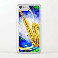 SAXOPHONE Clear iPhone Case