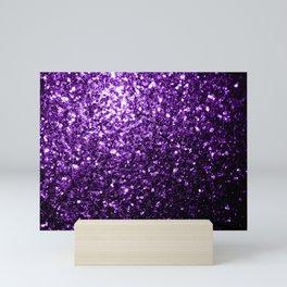 Beautiful Dark Purple glitter sparkles Mini Art Print