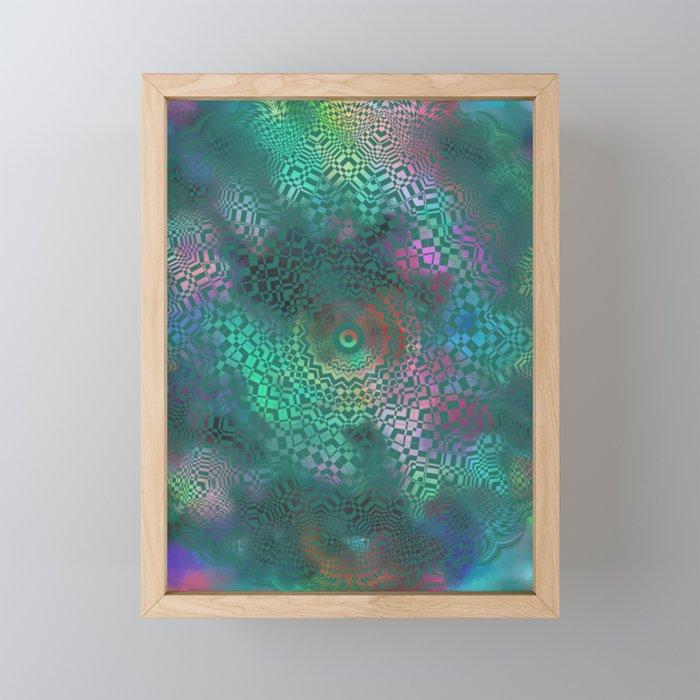 Love of Life Mandala Green Framed Mini Art Print