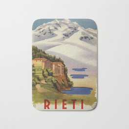Rieti Sabina vintage Italian travel Bath Mat