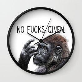 No Fucks Given Wall Clock