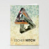 escher Stationery Cards featuring escher hitch by Vin Zzep