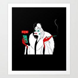 Cruella de Vil Illustration Art Print
