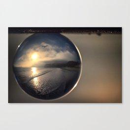 Capturing Avila Beach refraction photography crystal ball Canvas Print