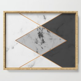 Geometric marble & copper Serving Tray