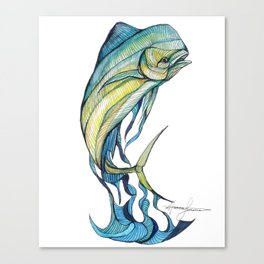 The Glass Mahi Mahi  Canvas Print