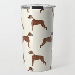 Boxer dog pattern dog lover pet portraits boxers dog breed by pet friendly Travel Mug