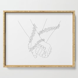 Holding Hands Serving Tray