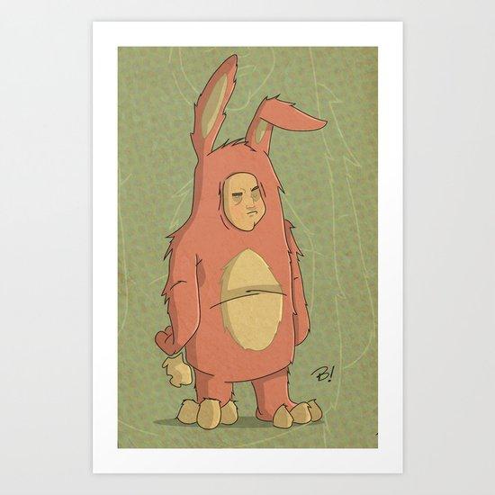 I Like My New Bunny Suit Art Print