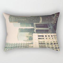 Chicago River Marina Tower Color Photo Rectangular Pillow
