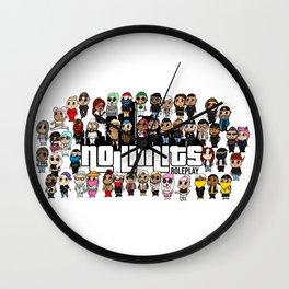 2 Years Anniversary blank background Wall Clock