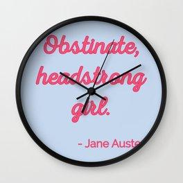 Pride and Prejudice Quote II - Cute Style Wall Clock