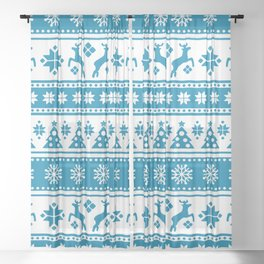 Christmas Holiday Nordic Pattern Cozy Sheer Curtain