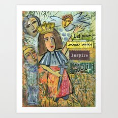 Listen to Your Inner Voices Art Print