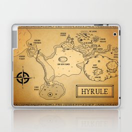 Hyrule Map  OOT Laptop & iPad Skin