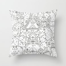 garden of koznoz Throw Pillow