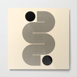 Abstraction_NEW_SUN_LINE_POP_ART_Minimalism_0299A Metal Print