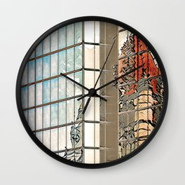 Reflections of Copley Square - Boston, USA Wall Clock