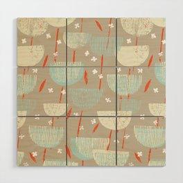 Botanical Block Print M+M Latte by Friztin Wood Wall Art