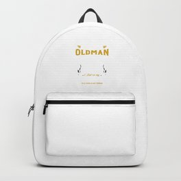 Funny Old Man Bicycle Lover Backpack