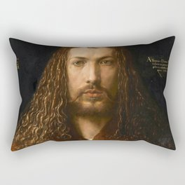 Self-Portrait at the Age of Twenty Eight by Albrecht Dürer Rectangular Pillow