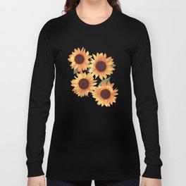 Happy Orange Sunflowers Long Sleeve T-shirt