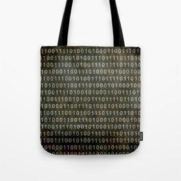 The Binary Code - Dark Grunge version Tote Bag