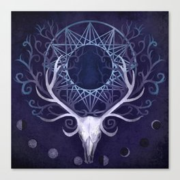 Season Of The Moon's Winter Fire Canvas Print