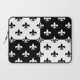 Black & white royal lilies (chessboard) Laptop Sleeve
