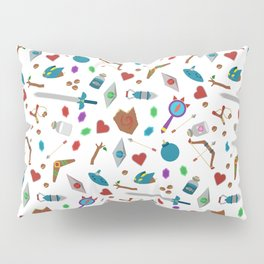 Zelda A Collection of Items Vector Pattern Pillow Sham