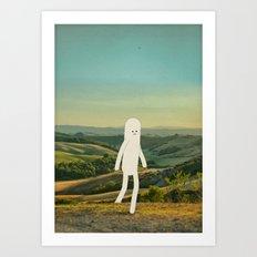 walking in tuscany Art Print