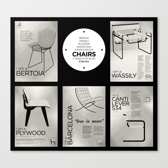 CHAIRS - A tribute to seats (special edition) Canvas Print