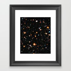 Hubble Ultra Deep Field Framed Art Print