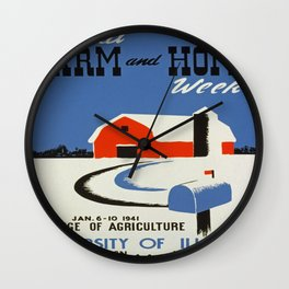 Vintage poster - Annual Farm and Home Week Wall Clock