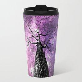 Wintry Trees Pink Purple Galaxy Skies Travel Mug