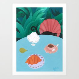 The Succulent Garden Café Art Print