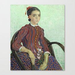 La Mousme by Vincent van Gogh Canvas Print