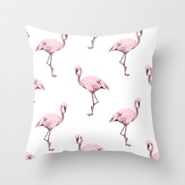Simply Pink Flamingo in Pink Flamingo Throw Pillow