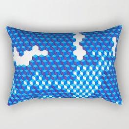 Blue Period Cubes Rectangular Pillow