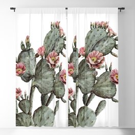 Prickly Pear Cactus Painting Blackout Curtain