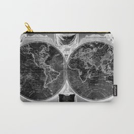 Black and White World Map (1808) Inverse Carry-All Pouch