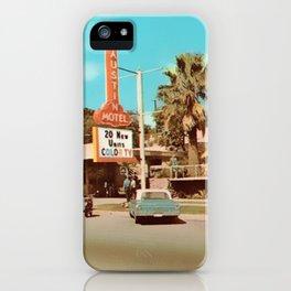 Vintage Austin Motel iPhone Case