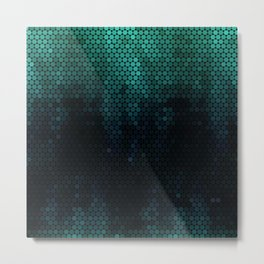 Nebular hexagon ,modern Metal Print