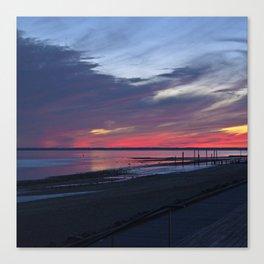 Magic Summer Sunset on the West Coast of DENMARK Canvas Print