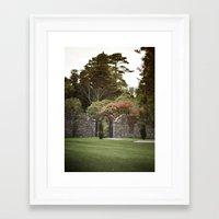 woodstock Framed Art Prints featuring Woodstock Gardens by K8QP