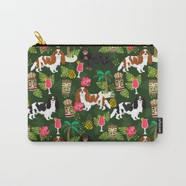 Cavalier King Charles Spaniel tiki hawaiian island tropical dog breed pattern dogs Carry-All Pouch