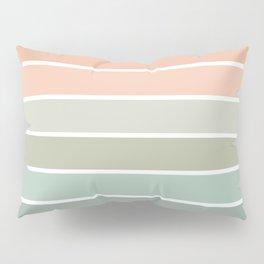 70s Stripe - pastel pink and mint, spring, pink stripes, desert, boho, dorm decor Pillow Sham