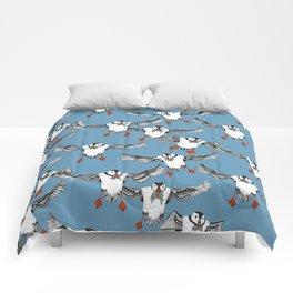 Atlantic Puffins blue Comforters