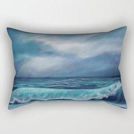 Moody waves Rectangular Pillow